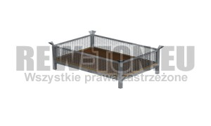 "Paleta Metalowa ""kosz""  1200 x 800 mm."